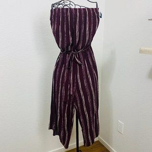 SEE YOU MONDAY L Jump Suit 100% rayon Strapless